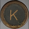 typewriter key letter K